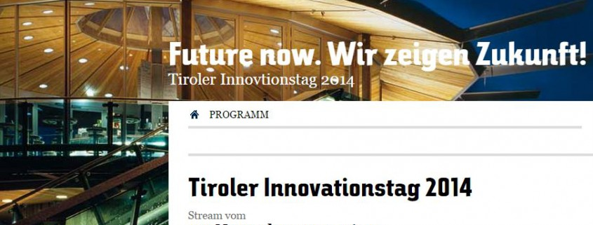 innovationstag 2014 summup Textilforschung in Tirol