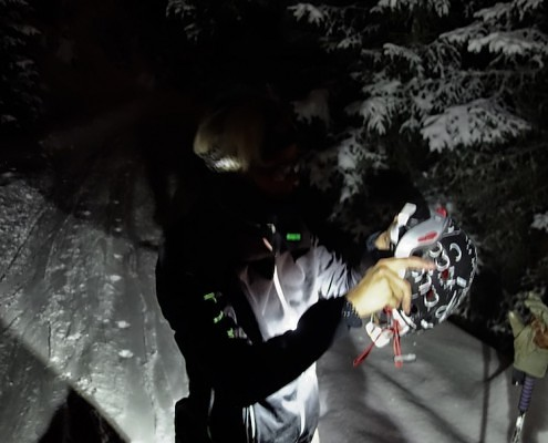 night skiing fieldtest product development
